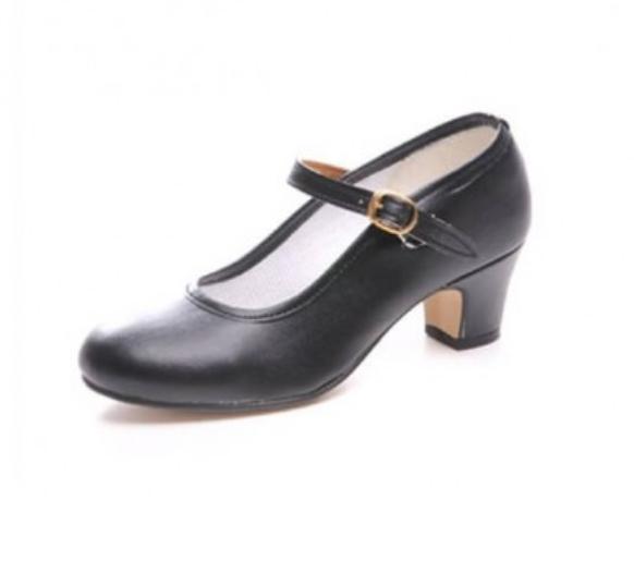 Zapatos de flamenca polipiel