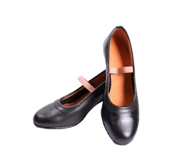 Zapato negro sintetico goma