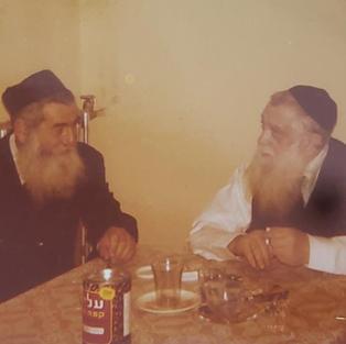 Reb Moishe Tikuchinski (mashgiach Slabodka with Reb Mordechai Shulman (Rosh Yeshiva Slabodka)