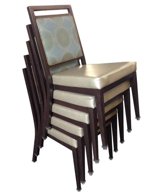 stackable aluminum chair