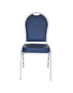 5300 Chair - Banquet Aluminum Navy Front-910x1155