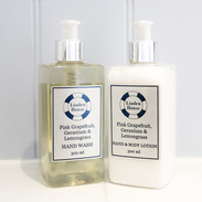 Hand wash and body lotion made exclusively for Linden House