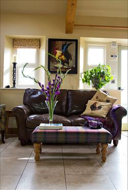 Tartan sofa bench