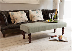 Duck-egg sofa bench