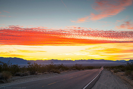 Sunrise in the Mojave Desert