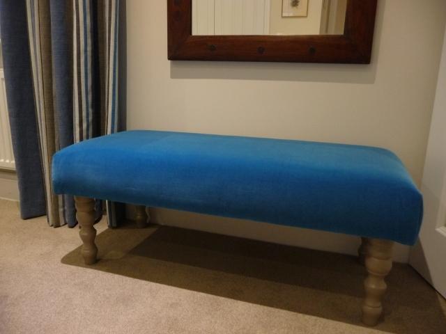 Teal blue velvet