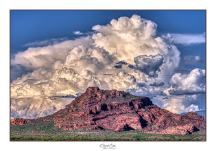 Stormy Red Mountain