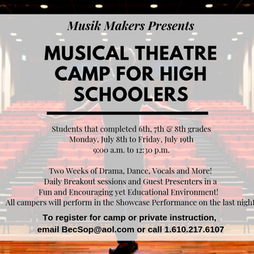 Theatre Camp for High Schoolers