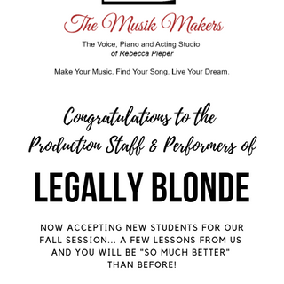 Program Ad - Legally Blonde