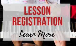 Website Navigation Bar Graphic - Lesson Registration