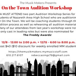 Facebook Post Graphic - On the Town Audition Workshop