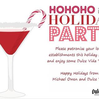 Happy Holidays Card for Restaurants