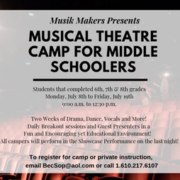 Theatre Camp for Middle Schoolers