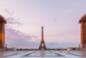 PARIS EIFFEL TOWER SUNRISE EMPTY TROCADERO