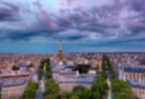PARIS EIFFEL TOWER SUNSET