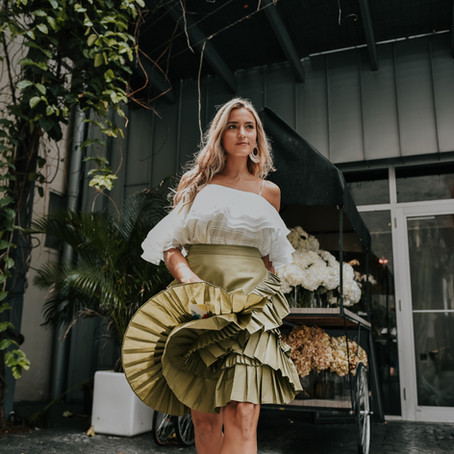 Ruffled Midi Skirt or Silk Dress? 2 Outfits by HOWL Studio