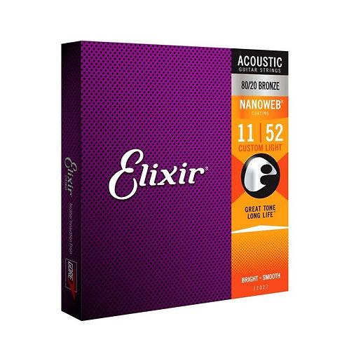 Elixir Bronze Nanoweb - Custom Light / 11-52 Acoustic Strings