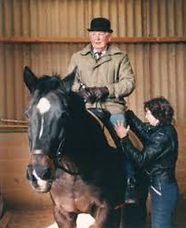 an alexander technique lesson on a horse rider