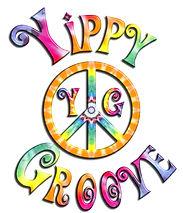 YippyGroove Logo Rainbow Tie Dye Round P