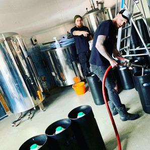 Racking our first beer back in 2018
