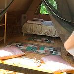 в шатре