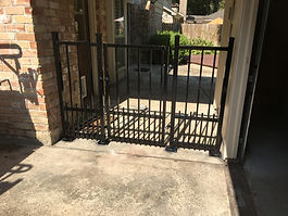 Iron breezeway fence