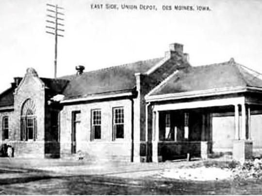 1909 train depot in Des Moines' East Village.