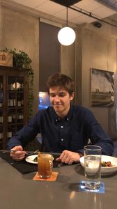 Davis Ward dining in Des Moines