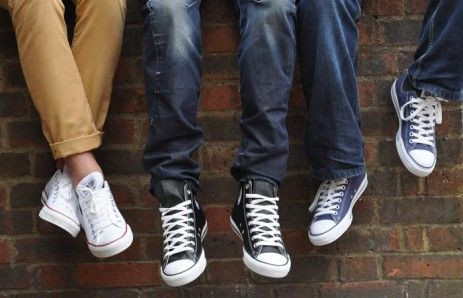 group wearing converse