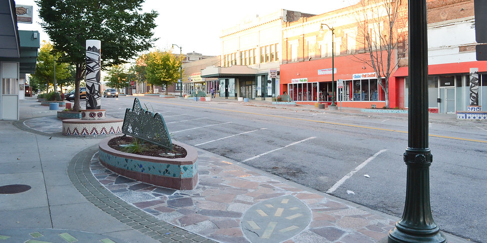 street in historic South Omaha