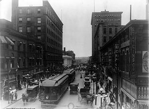 historic downtown des moines 1910