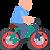 person biking icon