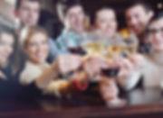 friends enjoying glasses of wine