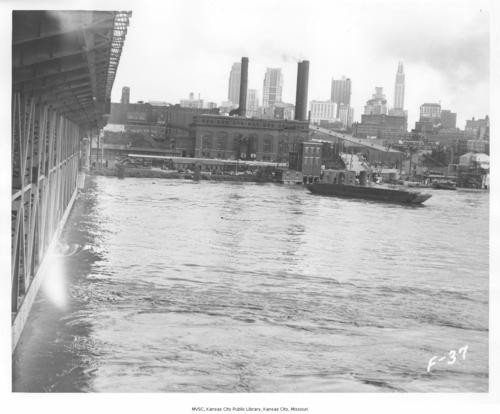 River Market and KC skyline in 1951