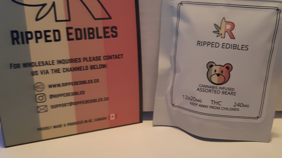 Ripped Edibles Assorted Gummy Bears 240mg