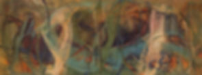 The Pond 36x96 oil&multi media