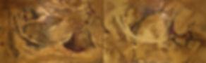Golden Grotto 30x96 oil&multi media