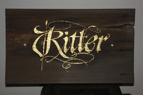 Calligraphy Ritter Gold Leaf