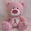 Thumbnail: Signature Bear – Pink Bear with Cancer Awareness Logo