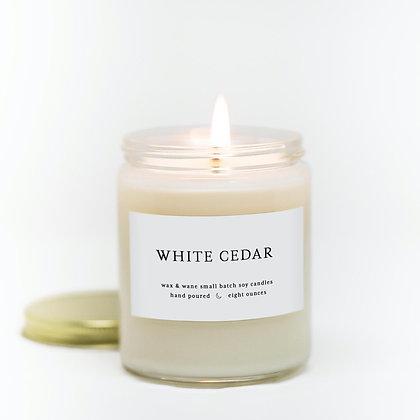White Cedar Modern Jar Soy Candle