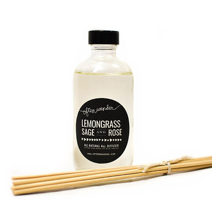 Reed Diffusers – Lemongrass, Sage and Rose – 4 oz.