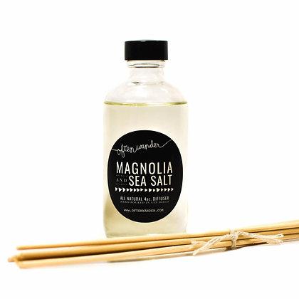 Reed Diffusers – Magnolia and Sea Salt – 4 oz.