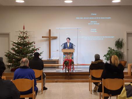 Weihnachts- und Jahresabschlussgottesdienst 2020