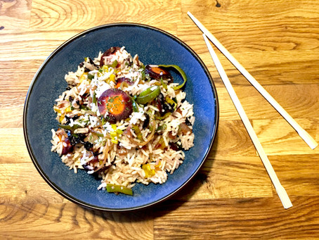 Riz basmati et ses légumes au tamari
