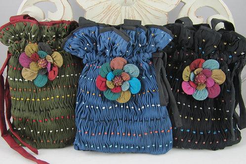 Pista Flower Burkha Bag