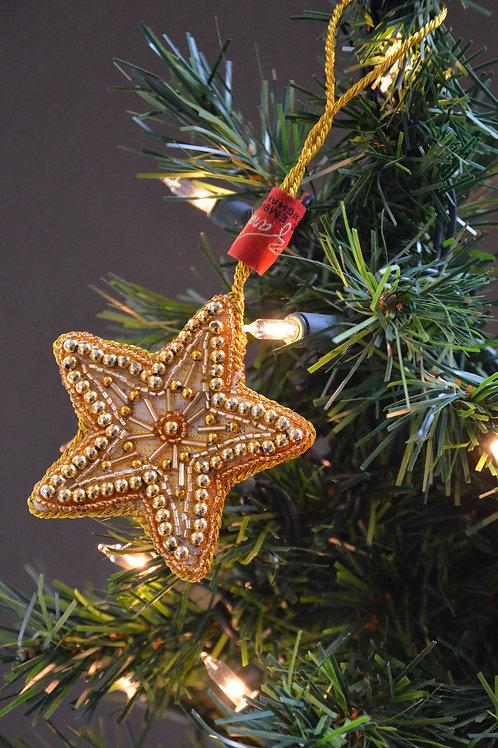 Gold Beaded Star