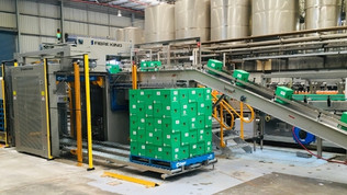 Tru Blu Beverages replaces ineffective palletising system with reliable Australian designed solution