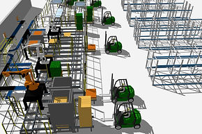 3D modelling service for turnkey automated production lines