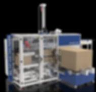 Regular slotted top load case packer