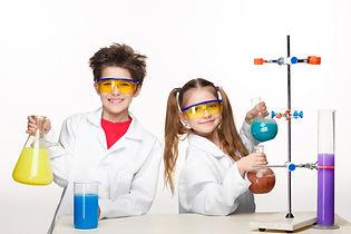two-cute-children-chemistry-lesson-makin